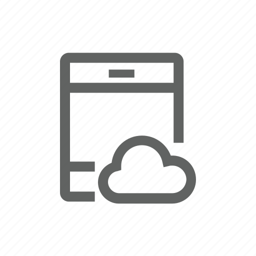 cloud, internet, ipad, network, tablet icon