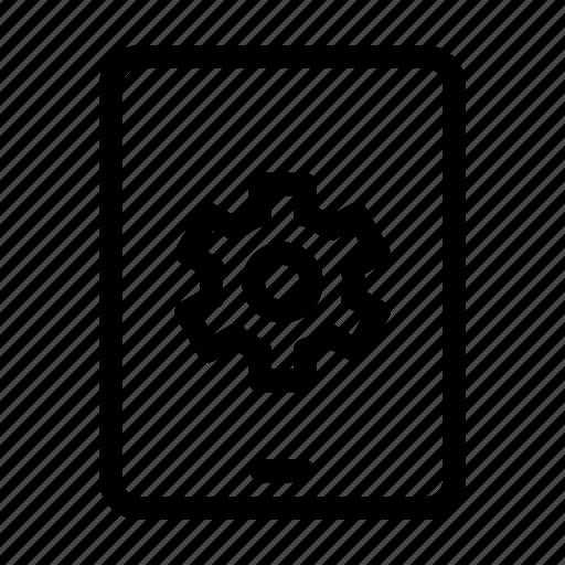 cog, computer, gear, mobile, monitor, monitoring, screen icon