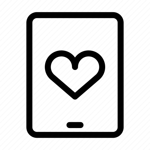 computer, heart, mobile, monitor, monitoring, phone, screen icon