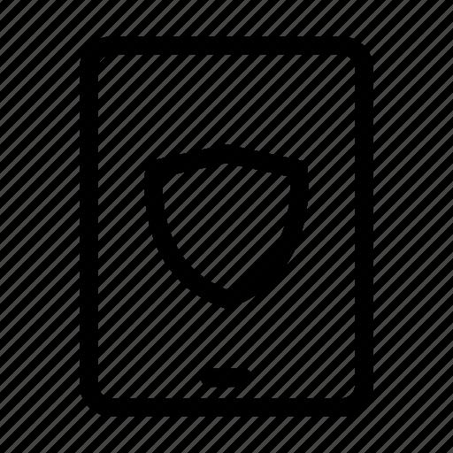 computer, mobile, monitor, monitoring, phone, screen, shield icon