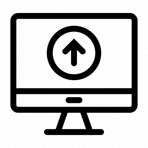 computer, device, monitoring, technology, upload icon