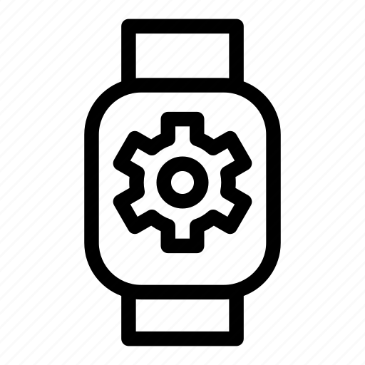 device, gear, mobile, monitoring, smart, technology icon