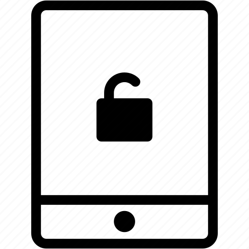 device, display, ipad, tablet, technology, unlock icon