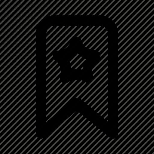 badge, bookmark, favorite, star, tag icon