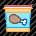 away, bucket, chicken, drink, food, legs, take