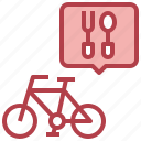 bicycle, food, delivery, take, away, transport