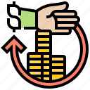 benefits, compensation, payment, plan, wages icon