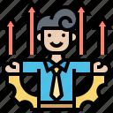 achievement, capability, development, employee, improve icon