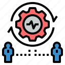 activity, business, control, finance, management, marketing, process icon