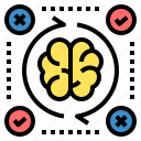analyze, assessment, brain, creative, evaluation, idea, process icon
