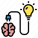 brain, education, idea, knowledge, power, study, talent icon