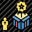 achievement, award, gift, prize, reward, rewarding, value icon