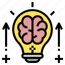 brain, bulb, education, idea, intellectual, knowledge, value icon
