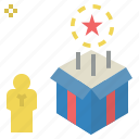 achievement, award, gift, present, reward, rewarding, value icon