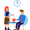 break, business, coffee, cup, people, team, workplace icon