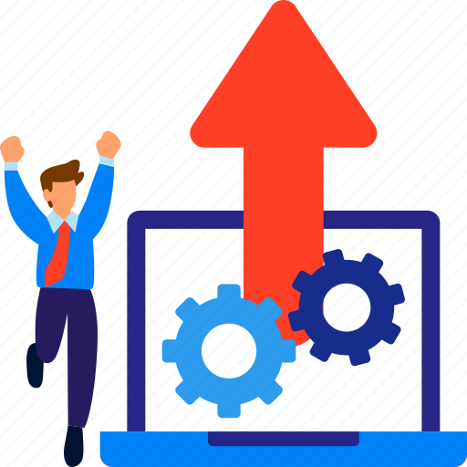 business, growth, increase, performance, productivity, success, up icon