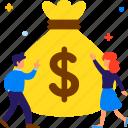business, finance, investment, money, sponsor, success icon