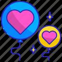air, balloon, celebration, decoration, heart, love, party icon