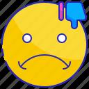 bad, dissatisfied, expression, face, negative, sad, upset icon