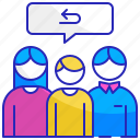 customer, family, feedback, group, people, review, testimonial icon