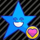 emoticon, emotion, expression, face, happy, smile, star icon