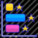 data, information, chart, graph, horizontal, bar, diagram icon