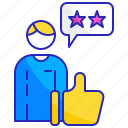 feedback, good, positive, quality, rating, review, satisfaction icon