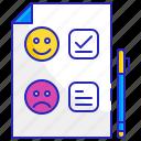 customer, feedback, quality, rating, satisfaction, service, survey icon