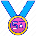 badge, best, quality, rating, star, success, top icon
