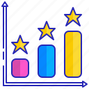 bar, chart, data, diagram, graph, information, vertical icon
