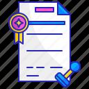 achievement, award, certificate, document, honor, paper, seal