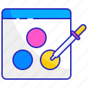 color, correction, design, editing, software, technology, tool icon