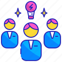 brainstorming, creative, discussion, group, professional, team, teamwork icon