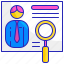 career, employee, hiring, interview, job, manager, recruitment icon
