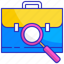career, employment, hiring, job, recruitment, search, seeker icon