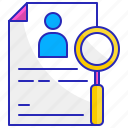 data, document, information, knowledge, paper, reference, study icon