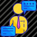 businessman, communication, language, languages, speak, speech, talk