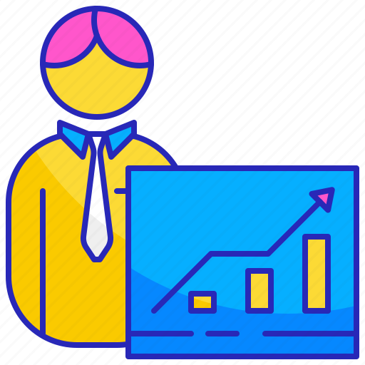 Business, businessman, employee, people, presentation, training, worker icon - Download on Iconfinder