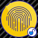 access, digital, fingerprint, protection, security, technology, unlocked