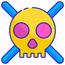 caution, danger, hazard, risk, safety, security, skull icon