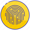 finger, fingerprint, identification, identity, print, security, thumbprint icon