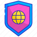 global, protection, safety, secure, security, shield, system icon