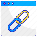 chain, connection, internet, link, network, web, website icon