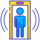 detector, gate, metal, person, security, sensor, technology icon