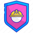 construction, helmet, protection, safe, safety, security, shield icon