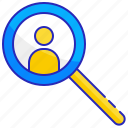 find, glass, internet, magnifying, person, search, web
