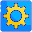 computer, gear, setting, settings, software, system, technology icon