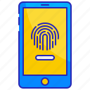device, fingerprint, id, security, smartphone, technology, touch icon
