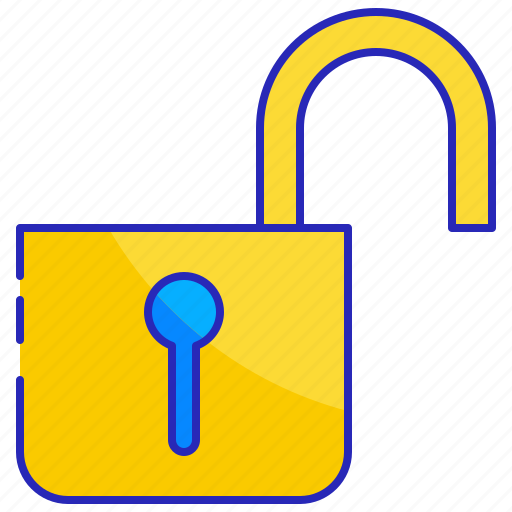 lock, open, padlock protection, safety, security, unlock icon