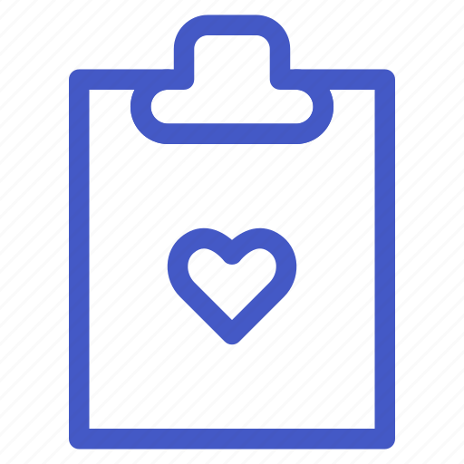 document, file, heart, love, task icon